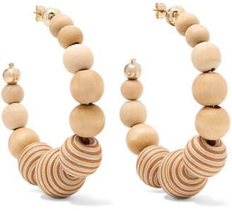Rosantica Wooden Hoop Earrings - Gold