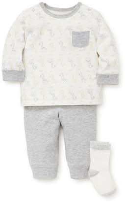 Little Me Giraffe T-Shirt, Jogger Pants & Socks Set