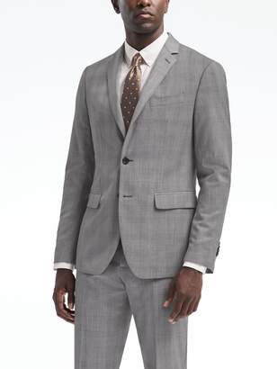 Banana Republic Slim Plaid Wool Suit Jacket