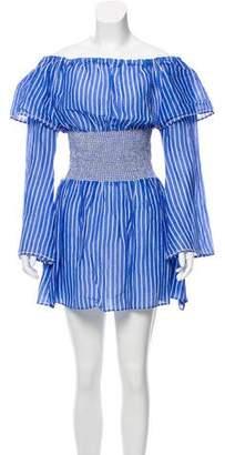 A Peace Treaty Silk-Linen Blend Mini Dress w/ Tags