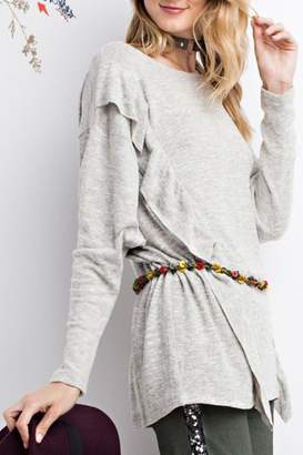 Easel Ruffle Sweater