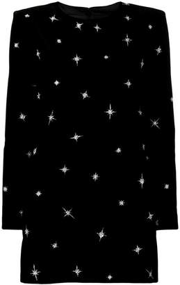 Saint Laurent sequin embroidered star dress