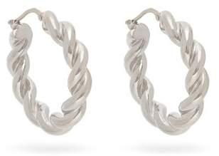 J.W.Anderson Twisted Hoop Earrings - Womens - Silver