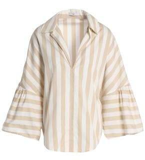 Tome Striped Cotton-Poplin Top