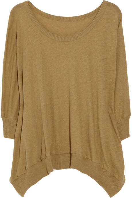 ENZA COSTA Knitted cotton and cashmere-blend sweater
