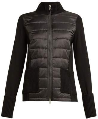 Bogner Roxa Down Quilted Wool And Nylon Jacket - Womens - Black