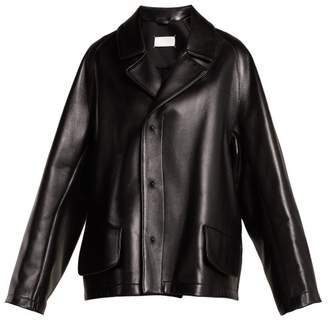 Maison Margiela Leather Jacket - Womens - Black