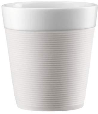 Bodum Bistro 2-Pieces Mug Set With Silicone Sleeve, 0.17L