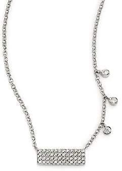 Meira T Women's Diamond & 14K White Gold Bar Pendant Necklace