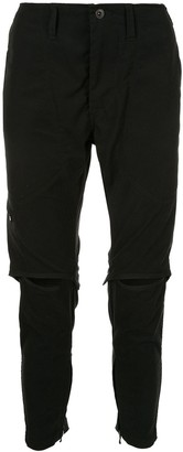 Julius cut-out knee trousers