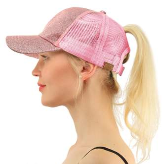 at Amazon Canada · FCX-Fashion Ponycap Messy Ponytail Adjustable Mesh Hats  for Women Baseball Caps 8da10103045e