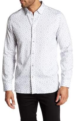Ted Baker Geo Print Long Sleeve Trim Fit Shirt