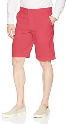 Izod Men's Saltwater Light Weight Poplin Flat Front Short