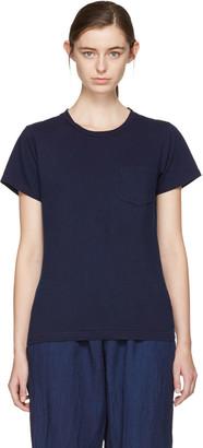 Blue Blue Japan Indigo Crewneck Pocket T-Shirt $125 thestylecure.com