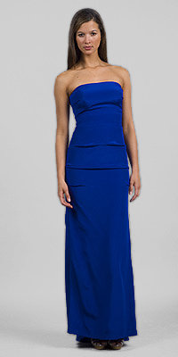 Royal Stretch Strapless Long Dresses by Nicole Miller
