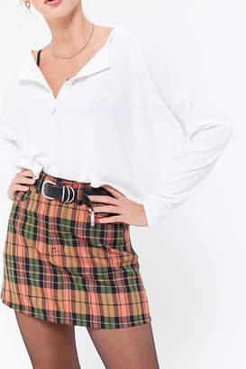 Zgy Denim ZGY DENIM Check It Plaid Mini Skirt