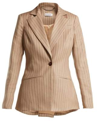 Altuzarra Acacia Single Breasted Pinstriped Blazer - Womens - Beige Stripe