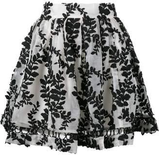 Zimmermann 'Winsome' vine embroidered skirt