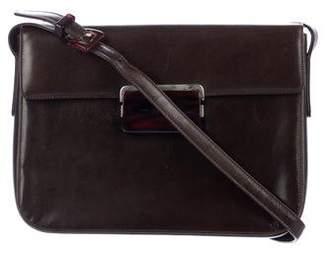 06edfddcfaa3 sale pre owned at therealreal prada calfskin flap bag 3da52 448da