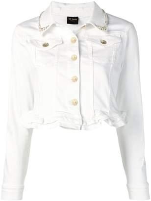 Twin-Set cropped denim jacket