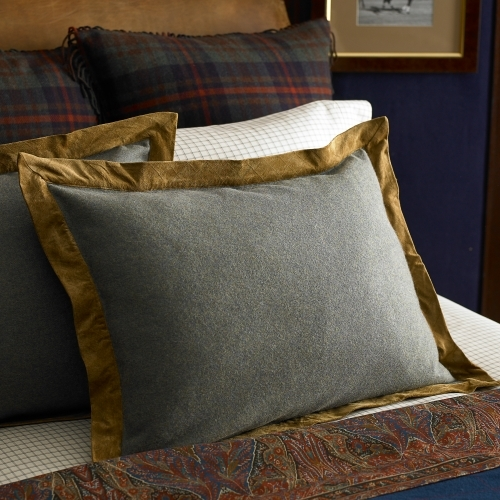 Bedford Hunt Suede-Trim Sham