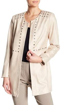 Insight Eyelet Trim Faux Leather Jacket