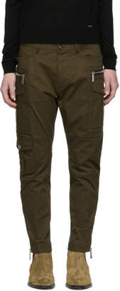 DSQUARED2 Green Sexy Safari Cargo Pants