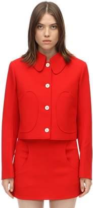 Courreges Short Textured Wool Jacket