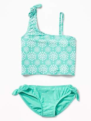 Old Navy One-Shoulder Knotted-Tie Tankini for Girls