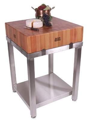 John Boos Cucina Americana Laforza Prep Table with Butcher Block Top