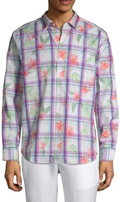 Tommy Bahama Plaid & Floral Button-Down Shirt