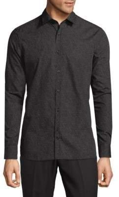 J. Lindeberg Printed Cotton Button-Down Shirt