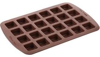 Wilton Easy Flex Silicone Bite-Size Brownie Mold, Square, 24 cavity