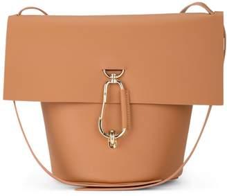 At Italist Zac Posen Model Belay Camel Leather Shoulder Bag