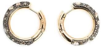 Pomellato diamond pavé hoop earrings