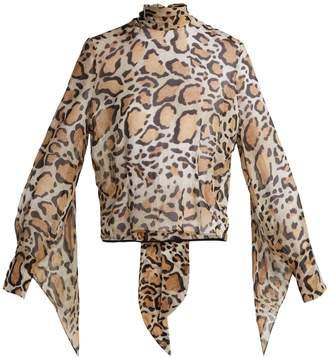 Petar Petrov Erna leopard-print silk-chiffon blouse