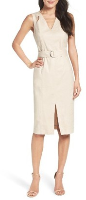 Women's Maggy London Belted Sheath Dress $138 thestylecure.com