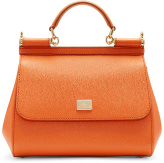Dolce & Gabbana Orange Medium Miss Sicily Bag $1,695 thestylecure.com