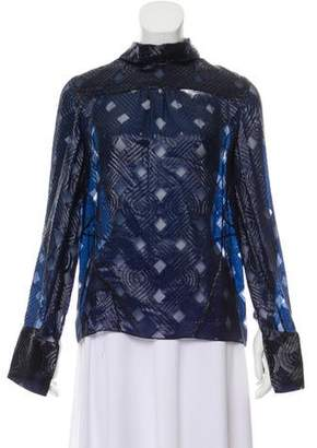 Prabal Gurung Textured Metallic Top