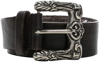 Saint Laurent Celtic Engraved Buckle Belt