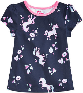 Epic Threads Toddler Girls Unicorn & Donuts Printed T-Shirt, Created for Macy's
