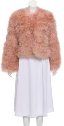Rebecca Minkoff Feathered Long Sleeve Jacket w/ Tags