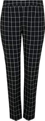 Wallis PETITE Black Checked Trouser