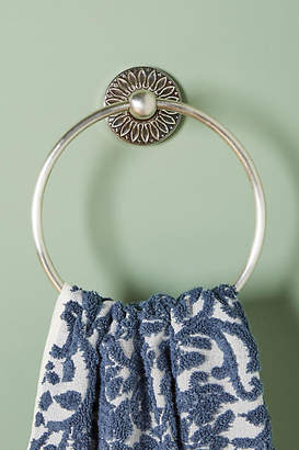 Anthropologie Floral Imprint Towel Ring