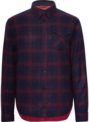 Aztech Mountain - Lenado Checked Wool-Blend Flannel Padded Overshirt