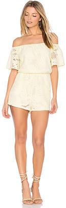 BB Dakota Haidyn Romper in Yellow $105 thestylecure.com
