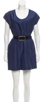 Shipley & Halmos Belted Mini Dress