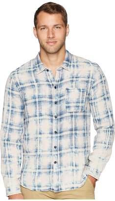 John Varvatos Double Faced Reversible Long Sleeve Shirt W600U2B Men's Clothing