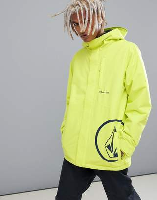 Volcom 17 Forty Insulated Jacket in Yellow