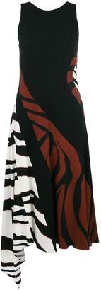 Roberto Cavalli zebra print flared dress